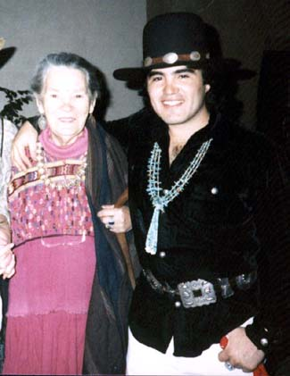 Rowena & Paco, Party at El Patio ca. 1984, Taos Lodging, New Mexico USA