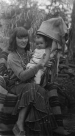 Rowena with baby Nina, 1937